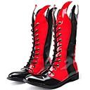 abordables Botas de Hombre-Hombre Fashion Boots Cuero Patentado Primavera / Otoño / Invierno Confort / Botas de Moto Botas Negro / Rojo / Fiesta y Noche