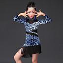 billige Dansetøj til børn-Latin Dans Kjoler Ydeevne Mælkefiber Dyremønster Langærmet Kjole