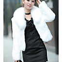 cheap Wedding Wraps-Women's Causal / Holiday Chic & Modern Winter Short Fur Coat, Solid Colored Shawl Lapel Long Sleeve Faux Fur Modern Style White / Black L / XL / XXL
