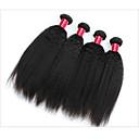 olcso Természetes színű póthajak-Emberi haj Remy emberi haj tincs Egyenes / Göndör egyenes / yaki Brazil haj 300 g 1 év
