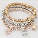 preiswerte LED Glühbirnen-Damen Mehrschichtig / Stapel Bettelarmbänder - Diamantimitate Luxus, Europäisch, Simple Style Armbänder Regenbogen Für Geschenk / Alltag