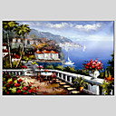 cheap Oil Paintings-Prints - Landscape Classic Mediterranean Canvas