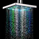 ieftine Robinete Chiuvetă Baie-Contemporan Duș Ploaie Crom Caracteristică - Ploaie Ecologic LED, Cap de dus