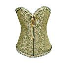 baratos Vestidos Lolita-Corpete Lolita Clássica e Tradicional Verde Cetim Fantasias