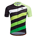 cheap Bike Cassettes and Drivetrains-Miloto Men's Short Sleeve Cycling Jersey Horizontal Strips Bike Shirt Sweatshirt Jersey, Breathable Quick Dry Reflective Strips 100% Polyester / Stretchy / Advanced / Sweat-wicking