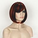 abordables Figuras de fantasía-Pelucas sintéticas Recto Corte Bob Pelo sintético Rojo Peluca Mujer Corta Sin Tapa