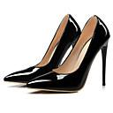 baratos Sapatos de Salto-Mulheres Sapatos Couro Ecológico Primavera / Outono Tira em T Saltos Salto Agulha Dedo Apontado Vermelho / Rosa claro / Amêndoa / Social
