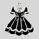 preiswerte Lolita Kleider-Prinzessin Gothik Damen Kleid Cosplay Kurzarm Knie-Länge Kostüme