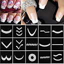 cheap Nail Stickers-18 sheets set french manicure diy nail art tips guides stickers stencil strip