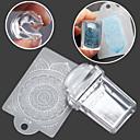 preiswerte Nail Stamping-1SET Stamper & Schaber Vorlage Nagel Kunst Maniküre Pediküre Modisch Alltag / Silikon / Kunststoff