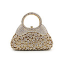 cheap Clutches & Evening Bags-Women's Bags Metal Evening Bag Crystal / Rhinestone Gold / Rhinestone Crystal Evening Bags