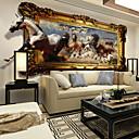 preiswerte Wandgemälde-Blumen Art Deco 3D Haus Dekoration Moderne Wandverkleidung, Segeltuch Stoff Klebstoff erforderlich Wandgemälde, Zimmerwandbespannung