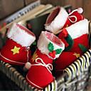 preiswerte Weihnachtsdeko-2pcs Weihnachtsdekorationen Süßigkeiten Stiefel 9 * 6 * 10cm