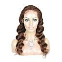 billige Bakeredskap-Remy-hår Helblonde Parykk Dyp Bølge Parykk 130% Hair Tetthet Naturlig hårlinje Afroamerikansk parykk 100 % håndknyttet Dame Kort Medium Lengde Lang Blondeparykker med menneskehår