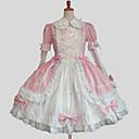 abordables Vestidos Lolita-Princesa Amaloli Mujer Vestidos Cosplay Azul / Rosa Salón Manga Larga Hasta la Rodilla Tallas Grandes Personalizada Disfraces