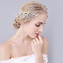 cheap Party Headpieces-Crystal Rhinestone Alloy Hair Combs Headwear with Floral 1pc Wedding Special Occasion Headpiece