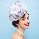 preiswerte Parykopfbedeckungen-Flachs / Feder Fascinatoren / Blumen mit 1 Hochzeit / Besondere Anlässe Kopfschmuck