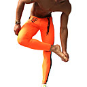 cheap Running Shirts, Pants & Shorts-Men's Running Tights / Gym Leggings - Orange, Green Sports Fashion Compression Clothing Fitness, Gym, Workout Activewear Quick Dry, Moisture Permeability, High Breathability (>15,001g) Stretchy