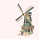cheap 3D Puzzles-Wooden Puzzle Windmill Windmill Famous buildings Chinese Architecture House Professional Level Wooden 1pcs Kid's Boys' Gift