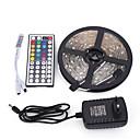 رخيصةأون ألعاب رسم-5m مجموعات ضوء 150 المصابيح 5050 SMD RGB تحكم عن بعد / قابل للقص / تخفيت 100-240 V / قابلة للربط / مناسبة للالسيارات / اللصق التلقي / لون التغير / IP44