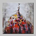 povoljno Slike ljudi-Hang oslikana uljanim bojama Ručno oslikana - Ljudi Moderna Europska Style Uključi Unutarnji okvir / Prošireni platno