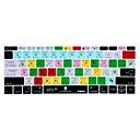 baratos Acessórios para Teclado-XSKN photoshop atalho cc pele teclado de silicone para 2016 lançado non-touch versão bar novo MacBook Pro de 13,3 nós de layout