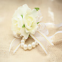 baratos Bouquets de Noiva-Bouquets de Noiva Forma-Livre Buquê de Pulso Casamento Festa / noite Renda