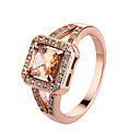 cheap Kigurumi Pajamas-Women's AAA Cubic Zirconia Ring - Rose Gold, Zircon, Cubic Zirconia Simple Style, Fashion 6 / 7 / 8 Pink / Golden / Champagne For Casual / Gold Plated / Alloy