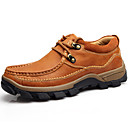 baratos Arandelas de Parede-Homens Sapatos de couro Pele Napa Primavera / Outono Conforto Oxfords Castanho Claro / Festas & Noite