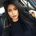 olcso Emberi hajból készült parókák-Kémiai anyagoktól mentes / nyers Csipke korona, szőtt Csipke Paróka Brazil haj Egyenes Paróka 150% 180% Haj denzitás baba hajjal Afro-amerikai paróka Női Rövid Közepes Hosszú Emberi hajból készült