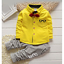 cheap Boys' Clothing Sets-Toddler Boys' Solid Colored / Striped Print Long Sleeve Cotton Clothing Set / Basic