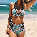 billige Overvåkningskameraer-Dame Grime Bikini Blomstret Tropisk blad