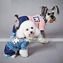 povoljno Auto cerade-Mačka Pas Jumpsuits Odjeća za psa Plaid/Check Plava Pink Pamuk Kostim Za kućne ljubimce Muškarci Žene Ležerno/za svaki dan
