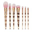 billige Sminkebørstesett-7pcs Makeup børster Profesjonell Børstesett / Rougebørste / Øyenskyggebørste Syntetisk hår Bærbar / Full Dekning / syntetisk Plast