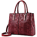 cheap Shoulder Bags-Women's Bags PU Tote Zipper / Flower Black / Brown / Wine