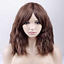 billige Kostymeparykk-Syntetiske parykker Løse bølger Syntetisk hår Brun Parykk Dame Medium Lengde Lokkløs Aske Brun