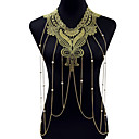cheap Historical & Vintage Costumes-Body Chain Lace Flower Ladies, Bohemian, Fashion Gold Body Jewelry For Christmas Gifts / Party / Special Occasion / Anniversary / Birthday / Gift