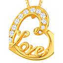 cheap Cake Toppers-Pendant - Imitation Diamond Heart, Love Pendant Gold For Daily / Casual