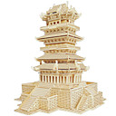 cheap Wooden Puzzles-Wooden Puzzle Famous buildings Chinese Architecture House Professional Level Wooden 1pcs Kid's Boys' Gift