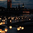 baratos Velas e Suportes de Vela-Moderno / Contemporâneo Velas Flutuando / Votivo / Conjunto 1pç, Candle / Candle Holder