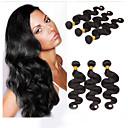ieftine Meșe Păr Natural-Păr Brazilian Stil Ondulat Păr Virgin Umane tesaturi de par Umane Țesăturile de par Umane extensii de par