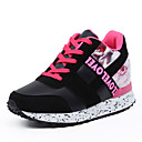 cheap Women's Sneakers-Women's Shoes PU(Polyurethane) Spring / Fall Comfort Athletic Shoes Round Toe Lace-up Gray / Red / Black / White