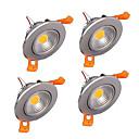 billige LED-lyspærer-z®zdm 4stk 5W 500-550lm støtte dimbare LED panel lys varm hvit kald hvit naturlig hvit ac110v / 220v / 12v