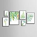 baratos Pinturas Florais/Botânicas-Quadros Emoldurados Conjunto Emoldurado Abstrato Animais Floral/Botânico Arte de Parede, PVC Material com frame Decoração para casa Arte