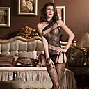 preiswerte Parykopfbedeckungen-Damen Übergrössen Super Sexy Teddy Nachtwäsche - Gitter Solide