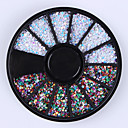 cheap Rhinestone & Decorations-1mm mixed color nail art rhinestones glitters tips decoration manicure wheel