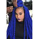 abordables Trenzas-Trenza de la torcedura la Habana Box Trenzas Croché Kanekalon castaño medio Morado Borgoña Azul Negro Extensiones de cabello40cm 45cm