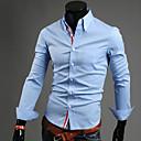 cheap Cycling Jersey & Shorts / Pants Sets-Men's Plus Size Cotton Shirt - Solid Colored Basic Button Down Collar / Long Sleeve