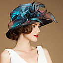 cheap Party Headpieces-Flax / Silk / Organza Hats / Headwear with Floral 1pc Special Occasion / Casual / Outdoor Headpiece