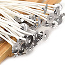 cheap LED Strip Lights-50Pcs/Set 20Cm Quality Candle Wicks Cotton Core Waxed With Sustainers For Diy Making Candles Gifts